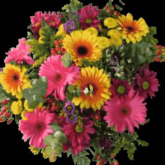 זר פרחים כפרי